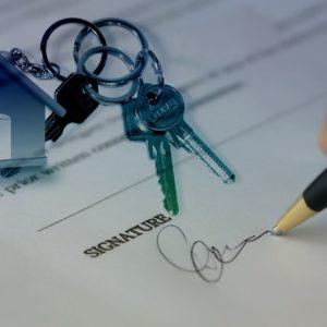 Signature d'un contrat de bail
