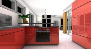 Cuisine, Salle À Manger, Rendu, Intérieur, Appartement